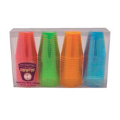 Party Essentials N26090 Assorted Neon 2 oz Shot Glasses, 60 ct. - Party Essentials