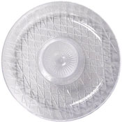 "Party Essentials N3026 16"" Crystal Clear Diamond Cut Deep Chip and Dip Tray - Party Essentials"