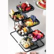 Bon Chef 6 Bowl Condiment Stand