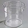 Carlisle StorPlus 18 qt Clear Round Container