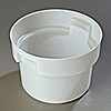 Carlisle White Polyethylene 12 qt Bain Marie