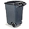 Carlisle 50 Gallon Gray Roll-Away Container