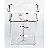 Cambro Camwear 4 qt. Clear CamSquare Containers