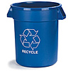 Carlisle 32 Gallon Blue Recycling Can