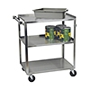 "Focus 30-3/4"" Stainless Steel Utility Cart"