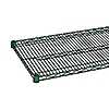 """Economy 14"""" x 60"""" Green Wire Shelf"""
