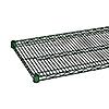"""Economy 14"""" x 72"""" Green Wire Shelf"""