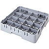 "Cambro Full Size 2-5/8""H 16-Compartment Camrack"