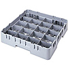"""Cambro Full Size 2-5/8""""H 20-Compartment Camrack"""