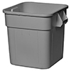 Continental 2800GY 32 Gallon Square Huskee Receptacle