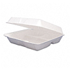 Dart Foam Hinged-Lid Carryout Containers