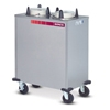 "Dinex Enclosed 2-Silo 9-1/8"" Plate Dispenser 