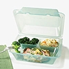 G.E.T. Jade 3-Compartment Eco-Clamshells with Square Compartments