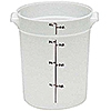 Cambro Translucent 4 qt. Round Food Storage Containers