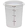 Cambro Translucent 8 qt. Round Food Storage Containers