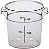 Cambro Camwear 1 qt. Round Food Storage Containers