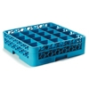Carlisle Opticlean 25-Compartment Blue Glass Rack w/2 Blue Extenders