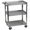 "Focus 27-1/2"" Stainless Steel Utility Cart"