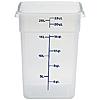 Cambro Translucent 22 qt. CamSquare Container