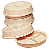 Cambro 3 Compartment Base and Cover Beige Camwear Heat Keepers