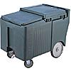 Cambro ICS125LB131 Brown SlidingLid Short Ice Caddy