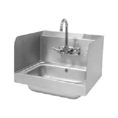 """Advance Tabco 7-PS-15A Welded Side Splash 12"""" Tall"""