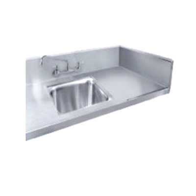 """Advance Tabco TA-11D Sink Welded Into Table Top 20""""W X 20""""D X 12"""" Deep Bowl"""