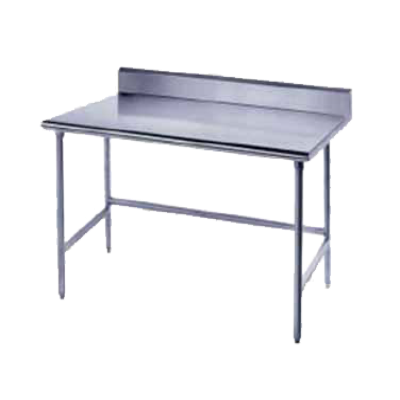 "Advance Tabco TKSS-366 36"" Wide Top Work Table with Splash at Rear"