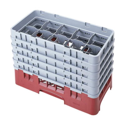 Cambro 10HS958184 Camrack Glass Rack with 5 Extenders