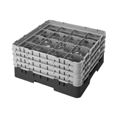 Cambro 16S800186 Camrack Glass Rack with 4 Extenders