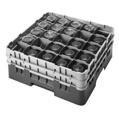 Cambro 25S434110 Camrack Glass Rack with 2 Extenders