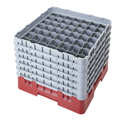 Cambro 49S1114168 Camrack Glass Rack with 6 Extenders