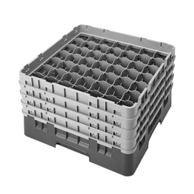 Cambro 49S800416 Camrack Glass Rack with 4 Extenders