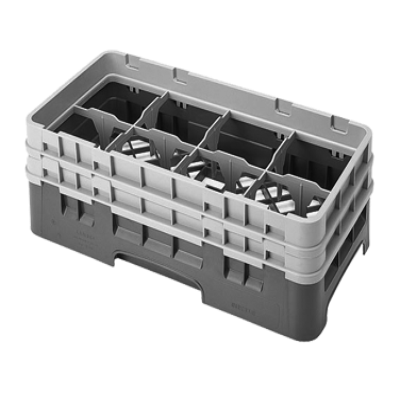 Cambro 8HS434184 Camrack Glass Rack with 2 Extenders