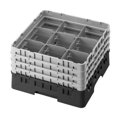Cambro 9S434414 Camrack Glass Rack with 2 Extenders