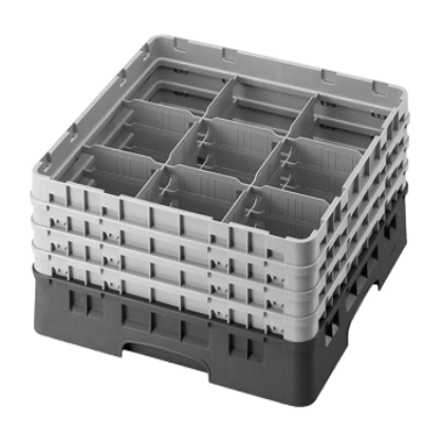 Cambro 9S638414 Camrack Glass Rack with 3 Extenders