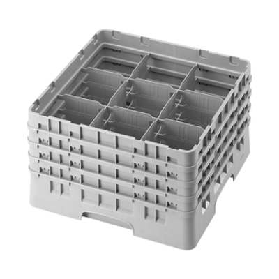 Cambro 9S800163 Camrack Glass Rack with 4 Extenders
