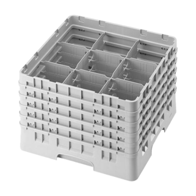 Cambro 9S958414 Camrack Glass Rack with 5 Extenders