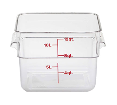 Cambro Camwear 12 qt. Clear CamSquare Containers