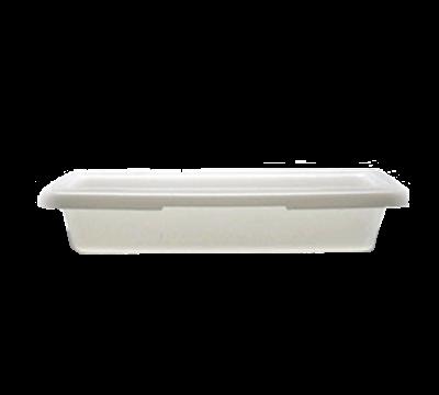 """Cambro Poly 12""""L x 18""""W x 3-1/2""""H White Food Storage Boxes"""