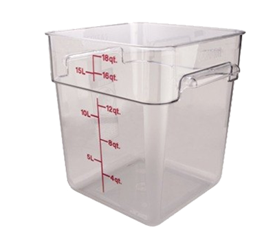 Cambro Camwear 18 qt. Clear CamSquare Containers