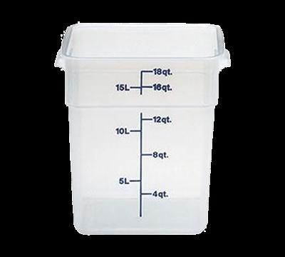 Cambro Translucent 18 qt. CamSquare Container
