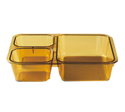 Cambro Amber Heat-Resistant Insert Trays