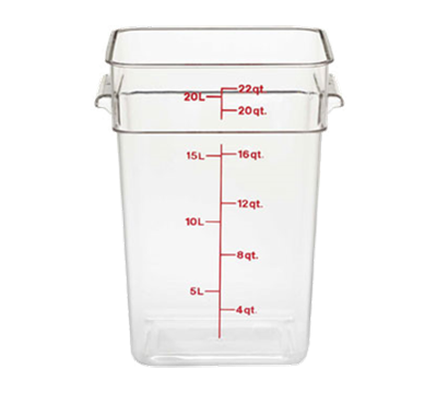 Cambro Camwear 22 qt. Clear CamSquare Containers