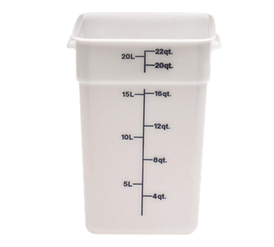 Cambro Poly 22 qt. CamSquare Containers