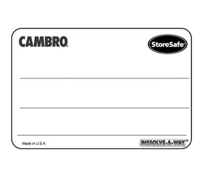 Cambro StoreSafe Labels