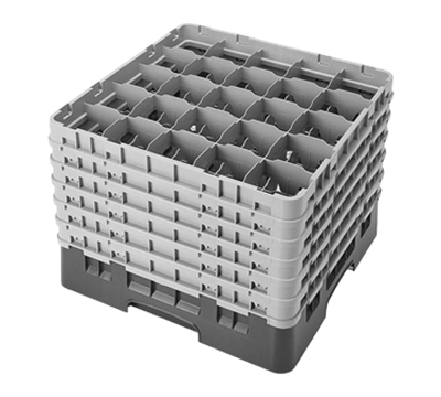 """Cambro 12-5/8"""" H Full Size 25-Compartment Camrack"""