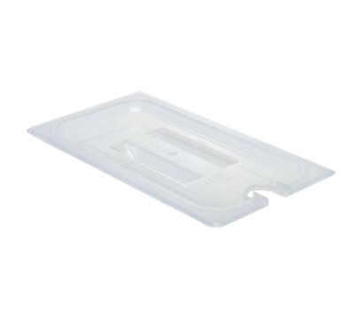Cambro Translucent 1/3 Size Notched Covers with Handles