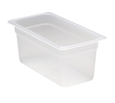 "Cambro Translucent 1/3 Size 6""D Food Pans"