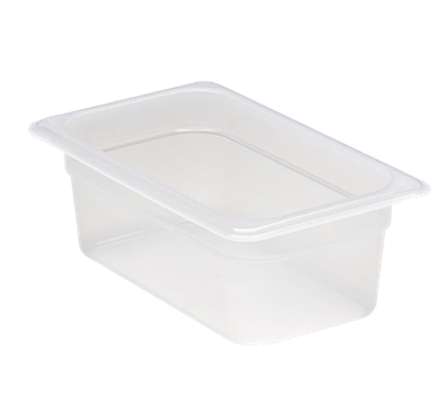 "Cambro Translucent 1/4 Size 4""D Food Pans"